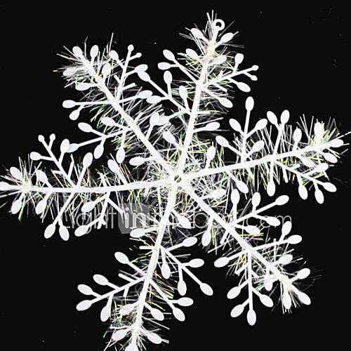 15pcs christmas decoration white snowflake ornaments 11cm for Decoration fenetre blanc de meudon