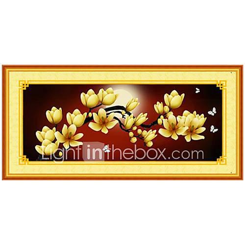 Diy Fabric Flower Wall Art : Diy wall art decor abstract style flower fabric d