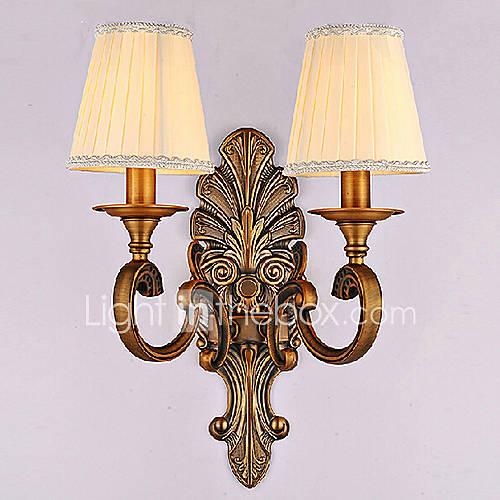 Applique 2 lumières peinture 220v style vintage