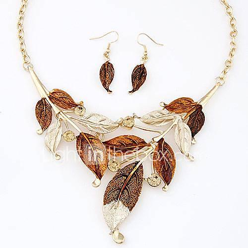 Conjunto de joyas De mujeres Cotidiano Sets de Joya Aleación Collares / Pendientes Oro Lightinthebox