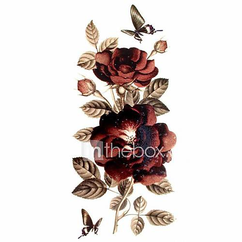 Tatuajes Adhesivos – Modelo/Waterproof/Brillante – Series de Flor – Mujer/Girl/Adulto/Juventud – Multicolor – Papel – #(1) – #(18.58.5) Lightinthebox