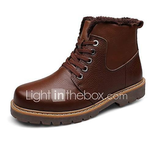 chaussures mode des bottes pour hommes à faible talon de bottines en cuir avec plus de couleurs à lacets disponibles