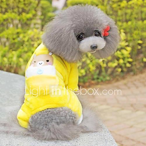cachorro-macacao-pijamas-roupas-para-caes-fofo-casual-desenhos-animados-amarelo-ocasioes-especiais-para-animais-de-estimacao
