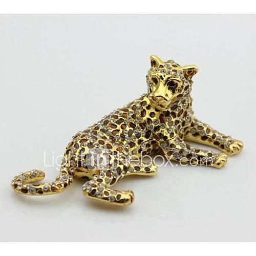 léopard boîte de bibelot décoration de la maison