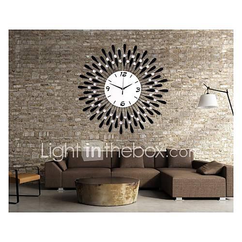 goutte d'eau moderne mur motif de fer horloge