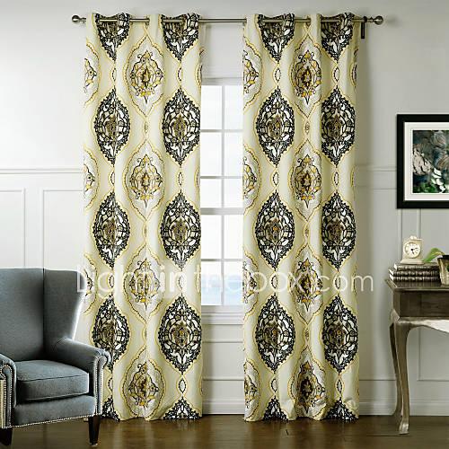 desenhador-neoclassico-dois-paineis-florais-botanicos-multi-cor-cortinas-de-poliester-quarto-cortinas