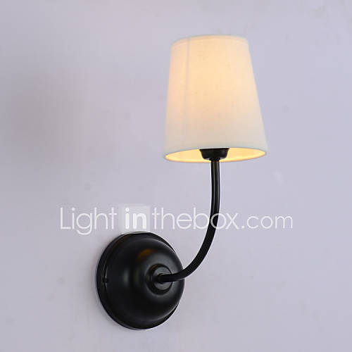 Wall Light Metal Box : Contemporary Wall Light with Fabric Shade and Metal Bracket 528813 2016 USD 129.99