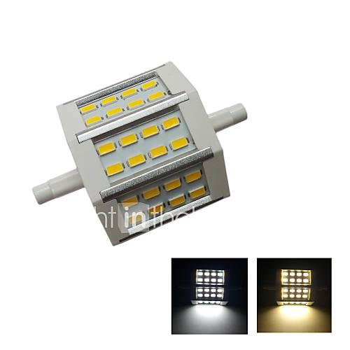r7s 5W 24x5630smd 500lm 2800-3200k de lumière blanche chaude lumière blanche froide 6000-6500k mené la lampe r7s (AC85-265V)