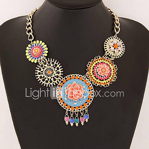 le tempérament de la mode compte de l'élégance joyau miss toutes les femmes collier match de fleurs