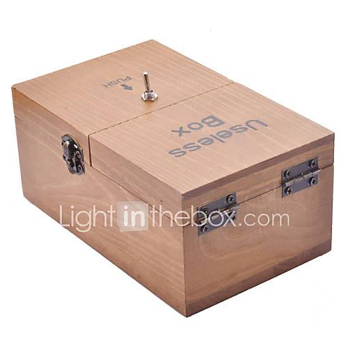 juguete caja de la máquina neje madera inútil totalmente montado con logotipo Descuento en Lightinthebox