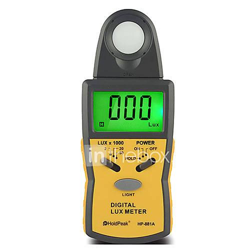 Light Intensity Meter : Klux digital handheld illuminometer light intensity