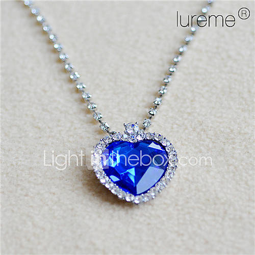 océan luremetitanic collier pendentif amour bleu