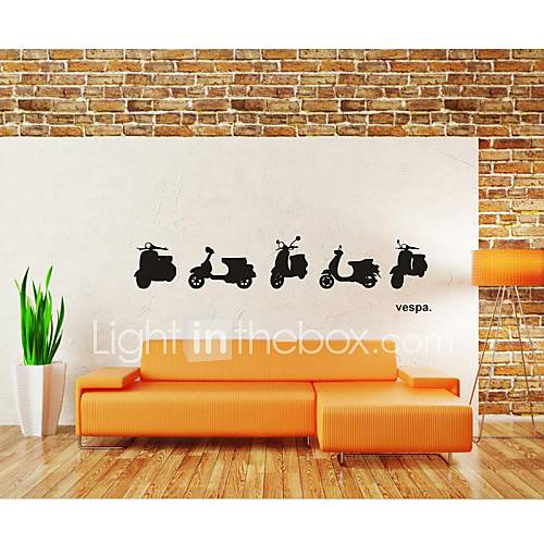 Wall stickers wall decals home decoration vespa motor for Vespa decoration