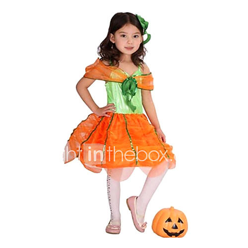 Muchachas de la ropa de halloween rendimiento trajes de la - Trajes de calabaza ...