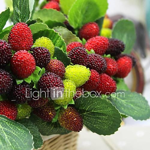 6pcs paddle frutas artificiales fresa casa flores - Frutas artificiales para decoracion ...