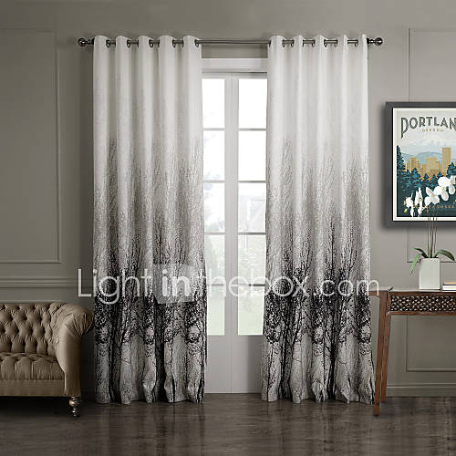two panels curtain country bedroom polyester material curtains drapes