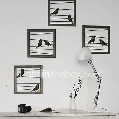 Black Box Wall Decor : E home? metal wall art decor black birds