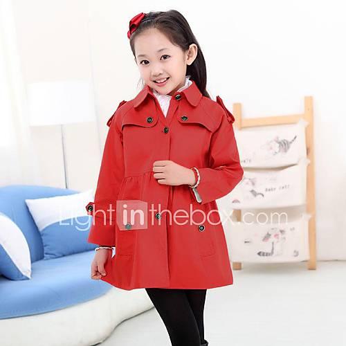Mode revers mignon longs manteaux de fille
