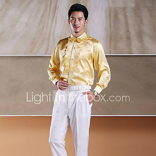 chemise de smoking jaune