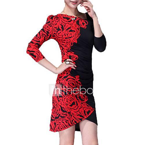 meishang robe moulante imprimée women'sfloral
