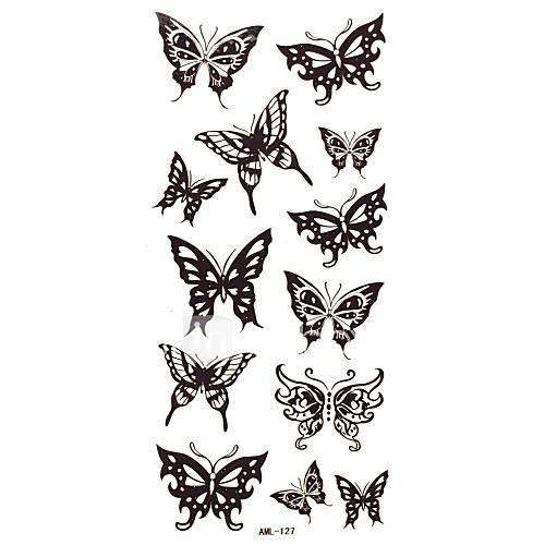 1Pc Butterfly Tattoo Sticker 18.5x8.8CM