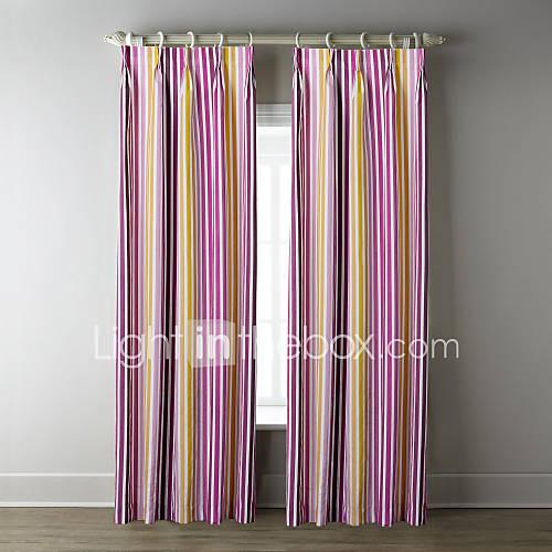 (Deux panneaux) bande colorée motif rideau