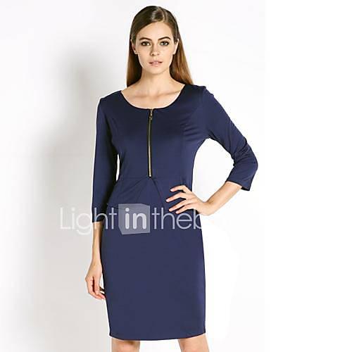 zipper-tunica-desgaste-elegante-vestido-lapis-negocio-das-mulheres