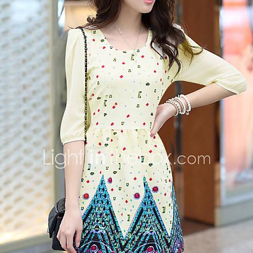 JANSA™ Women's Sweet Printing Slim Dress