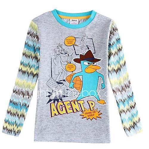 enfants t-shirt col rond dessin animé long sleeeve antumn imprimés d'hiver les tees de garçon