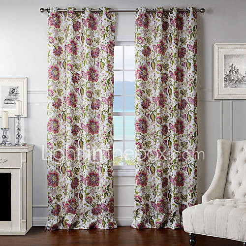 two panels dreamlike light pink floral curtain 2578971