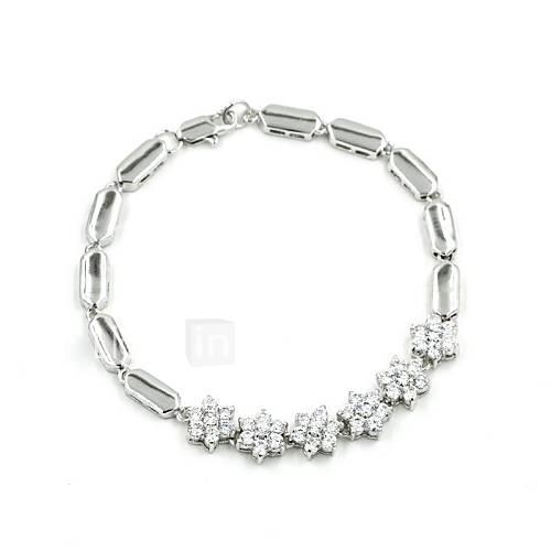 Women's Silver Alloy Rhinestone Casul Bracelets