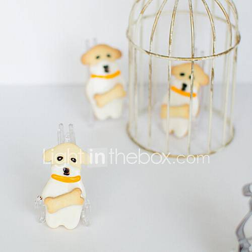 Pezzi cane cartone animato con frese forma di osso