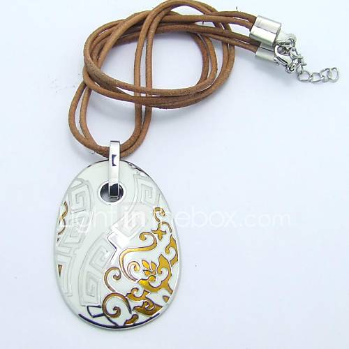 aço inoxidável esfera colar estilo chinês