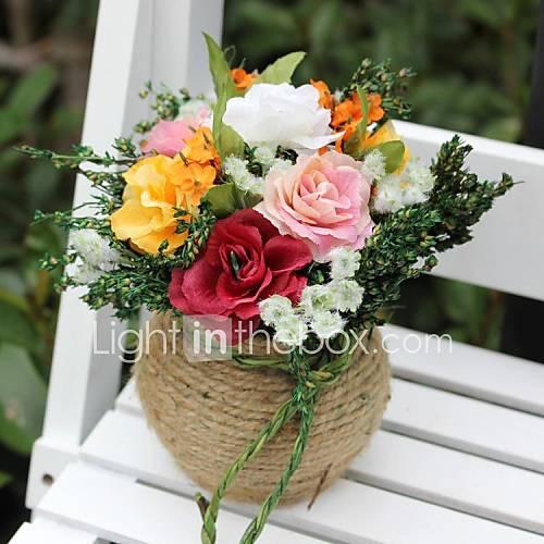 Wedding D Cor Colorful Artificial Flower Decoration Home