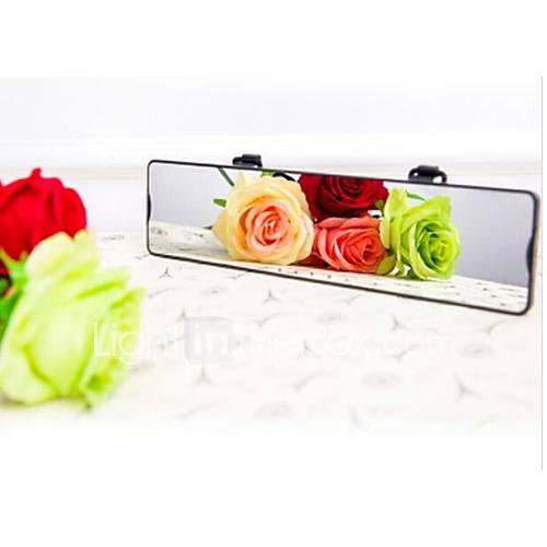 4.3inch câmera do carro retrovisor espelho de lente dupla gravador de carro carro de alimentação obd caixa preta