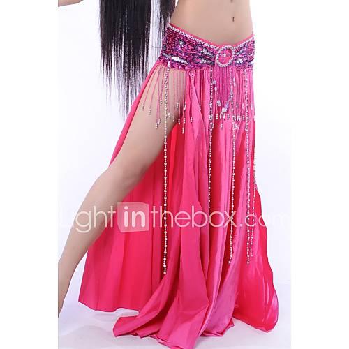 Faldas(Como en la foto,Satén elástico (tacto seda),Flamenco / Danza del Vientre / Desempeño) -Flamenco / Danza del Vientre / Desempeño- Descuento en Lightinthebox