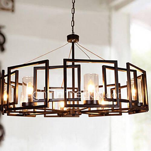 Lustre, 6 la lumière, l'europe du nord originalité de style lampe de restaurant métal