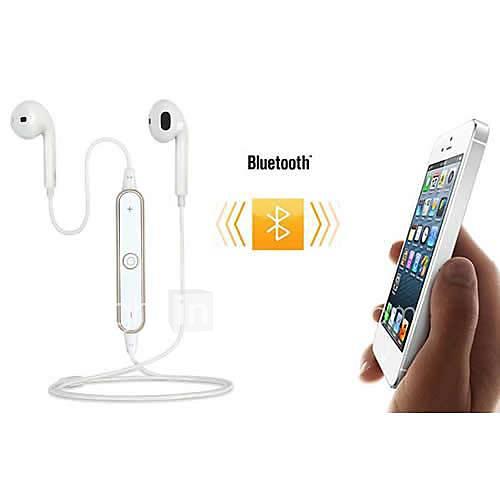 bluetooth v4.0 sportive dans l'oreille casque stéréo pour iPhone6 / 6 plus / 5 / 5s / 5 htc et mobile s4 samsung (couleurs assorties)