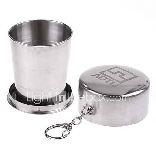blanc acier inoxydable extérieur pliage tasse de Voyage portable
