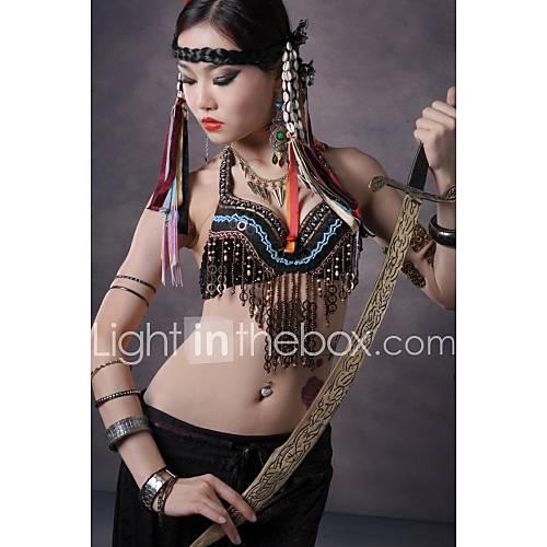 ventre performances de danse cuivres de soutien-gorge top décorées de style tribal