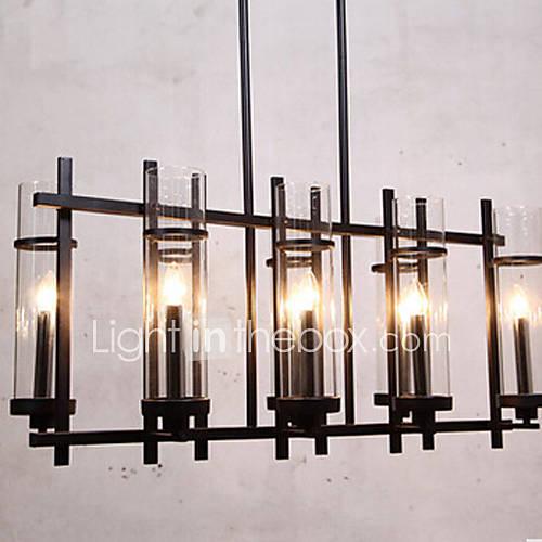 Lustre, 8 la lumière, l'europe du nord café de style lampe de maison métallique