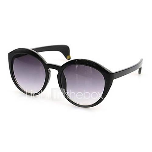 Rétro des lunettes de soleil en plastique ronde UV 100% de femmes