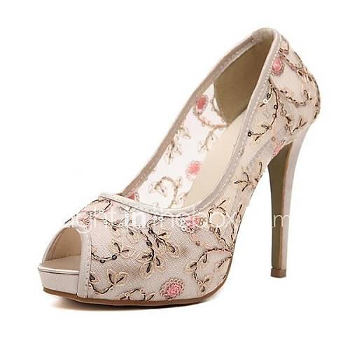 Chaussures femmes peep toe pompes talon aiguille chaussures plus de couleurs disponibles