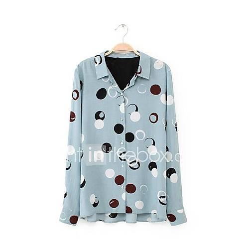 collier tour-down imprimé floral chemise décontractée des femmes