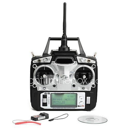 émetteur numérique FlySky fs-t6 2.4ghz proportionnelle 6 canaux et le récepteur