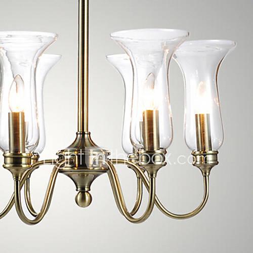Lustre, 8 lumière, style du nord europe lampe originalité métal