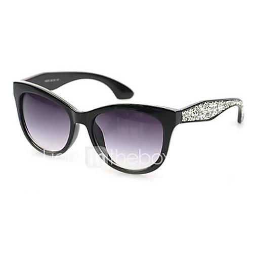 Oeil de chat en plastique rétro lunettes de soleil 100% UV femmes