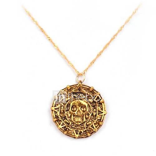 piratas del azteca collar colgante película aleación caribe (dorado, cobrizo) (1 unidad) Descuento en Lightinthebox