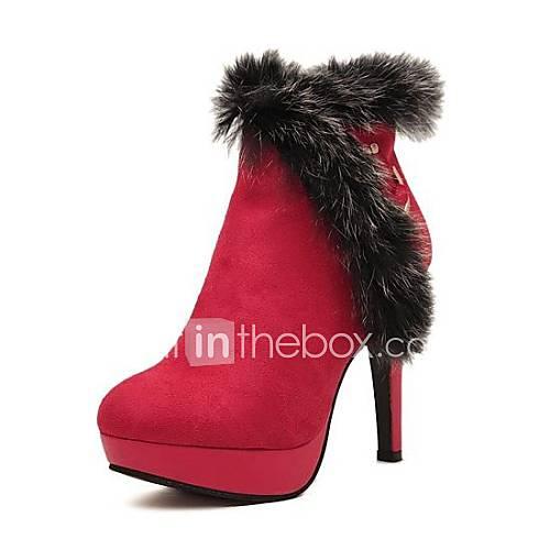 chaussures neige bottes pour femmes plate-forme d'orteil bottes talon aiguille cheville rondes plus de couleurs disponibles