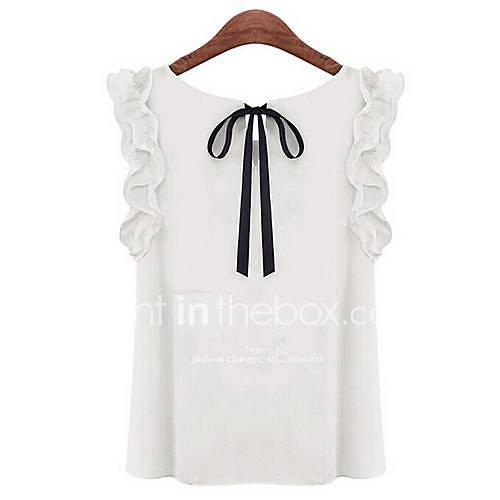 vrouwen-eenvoudig-lente-zomer-t-shirt-casual-dagelijks-effen-boothals-mouwloos-roze-wit-zwart-groen-oranje-geel-katoen-dun